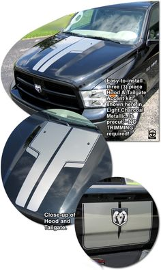 2009-2015 Dodge Ram Truck Hood and Tailgate Accent Kit 3