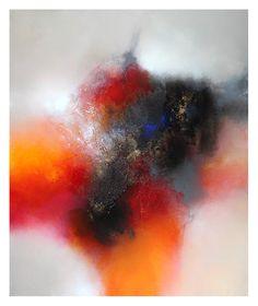 Eelco Maan, Summerflowers, 100 x 120 cm, mixed media on canvas / SOLD