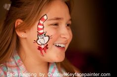 Dr. Seuss Face painting fun :) Can't wait for Grayson's party-face painting, balloon shapes and cotton candy fun!!
