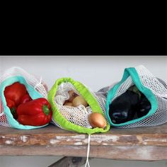 Asif bags, reuseable produce bags