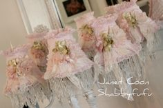 Pretty Fabric and Lace Lampshades