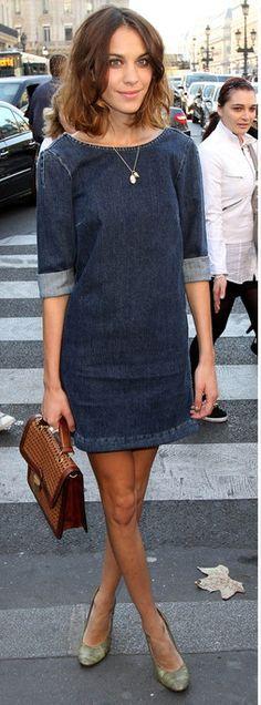 LOVE this LDD (little denim dress by stella mc cartney)