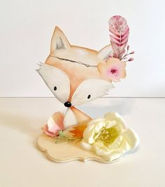 Woodland Baby Shower Decor Centerpieces Nursery Centerpiece Decorations Flowers Floral Pink Girl Baby Showers Welcome Boy Fox Animal Cut Out - Manualidades - Welcome Haar Design Baby Elephant Nursery, Baby Nursery Decor, Boho Nursery, Girl Nursery, Woodland Baby, Woodland Animals, Forest Animals, Box Container, Fiesta Baby Shower