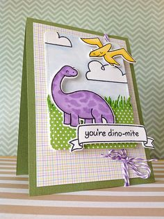 ideas birthday card children for kids lawn fawn Card Making Inspiration, Making Ideas, Dinosaur Cards, Birthday Cards For Boys, Lawn Fawn Stamps, Paper Smooches, Animal Cards, Card Tags, Kids Cards