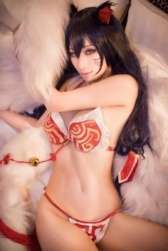 AHRI League of Legends英雄聯盟 阿璃 - Hane Ame(Hane Ame) Ahri Cosplay Photo - WorldCosplay