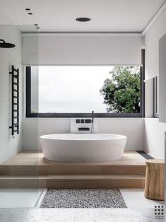 Guest Bathroom Remodel, Shower Remodel, Bathroom Renovations, Bathtub Remodel, Bad Inspiration, Bathroom Inspiration, Interior Inspiration, Bathroom Flooring, Bathroom Faucets