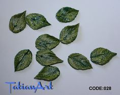 10 pcs double-sided autumn  leaf.  0.62-0.98 inch Polymer clay beads - For making jewelry - leaf bead - plant beads. CODE:028 di FlowerClaySupplies su Etsy