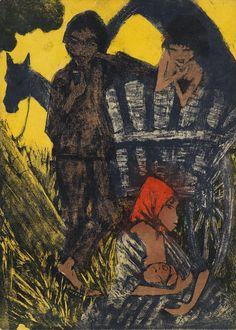 Otto Mueller - Zigeunerfamilie am Planwagen (1926)