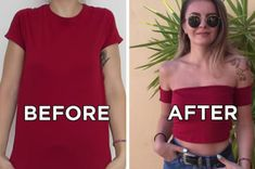 41 Awesomely Easy No-Sew DIY Clothes Chops – diy fashion – Clothing Hacks Diy Clothes Hacks, Revamp Clothes, Diy Clothes Hangers, Diy Clothes Refashion, Diy Clothes Videos, Old Clothes, Clothing Hacks, Basic Clothes, Cheap Clothes