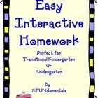 This pack includes 34 easy, individual homework pages designed to encourage parents to interact with their child and engage in conversations.   The...