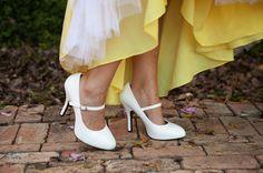 Bridal Shoes - Real Wedding: Yellow Inspiration