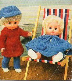 Dolls Poncho Dress Trousers Cap Knitting Pattern PDF Dolls clothes Baby Doll 12…