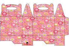 Flores: Caja para Lunch, para Imprimir Gratis. | Ideas y material gratis para fiestas y celebraciones Oh My Fiesta!
