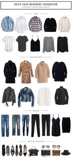 Fashion File: Closet Staples that Make a Great Wardrobe. closet Fashion File: Closet Staples that Make a Great Wardrobe Foundation (gaby burger) Closet Staples, Wardrobe Closet, Wardrobe Ideas, Closet Ideas, Girl Closet, Closet Essentials, Minimalist Wardrobe Essentials, Capsule Wardrobe Essentials, Style Essentials