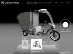 Kleuster Freegones urban electric powered utililty vehicles 3D product configurator (configure, quote, price) - www.virdys.com