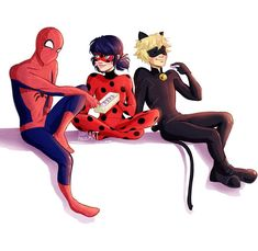 I would love a crossover with my kids~ #spiderman #miraculousladybug