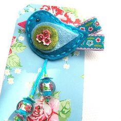 Flower Birdie Pin - pins & brooches