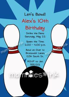 bowling invitations templates free free printable bowling birthday