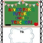 If your class is saying goodbye to a student teacher, this book is an easy (and free!) way to give him or her a memorable gift.  The kids each comp...