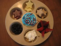 Red white and blue star muffin tin