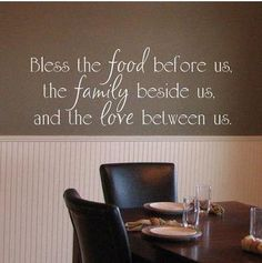 Faith for the kitchen/dining room! Love this on the wall as opposed to a sign.