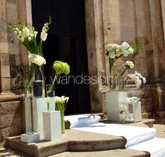 Wedding in Italy | #matera ceremony ideas in white & green..... #wandesignweddingplanner