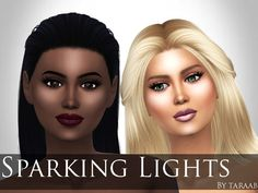Sparkling Lights Face Highlighter by taraab at TSR • Sims 4 Updates