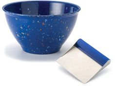 Rachael Ray Garbage Bowl and Bench Scrape Set: Blue