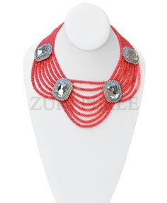 Zuri Perle - ZPPI302 - Pink Coral Beads African Nigerian Wedding Necklace set, $240.00 (http://www.zuriperle.com/women/zppi302-pink-coral-beads-african-nigerian-wedding-necklace-set.html/)