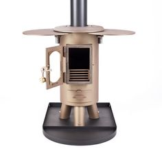 The Traveller stove log burner mutli-fuel portable wood burner honey brown | eBay