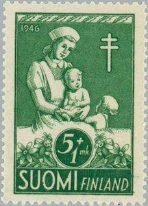 ◇Finland  1946   Nurse with Children