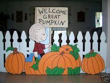 great pumpkin yard art | ... 3pc. Peanuts Gang Linus the Great Pumpkin Yard Art Halloween 2014