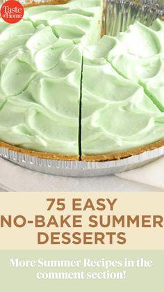 No Bake Summer Desserts, Frozen Desserts, Easy Desserts, Summer Recipes, Delicious Desserts, Yummy Food, Summer Deserts, Frozen Cake, Pie Recipes