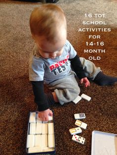 Life on the Trail: 16 Tot School Activities {14-16 months}