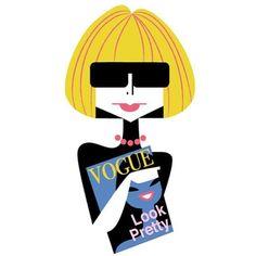 NYC Icons: Anna Wintour - Kirsten Ulve illustration
