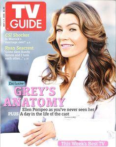 Ellen Pompeo Abc This Week, Ryan Seacrest, Ellen Pompeo, Tv Guide, Best Tv, Greys Anatomy, It Cast, Magazine Covers, Female