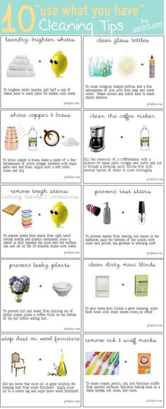 10 Use what you have cleaning tips