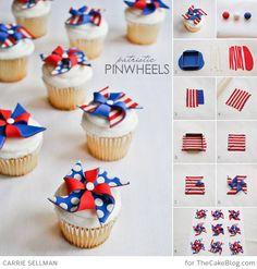 DIY Pinwheel Cupcakes , incl. tutorial