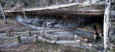 Panoramic of Cathedral Caverns in Alabama. Brad Wiegmann Photography