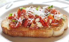 Fresh Tomato Bruschetta with Basil