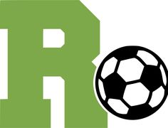 """Letter """"R"""" and Soccer Ball Wall Decal"""