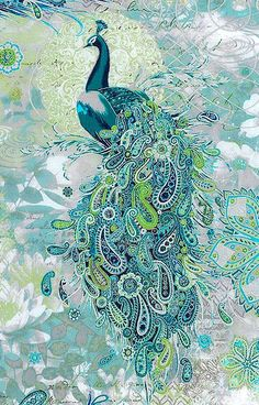 Paisley Peacock by Punch Studio for Hoffman fabrics: