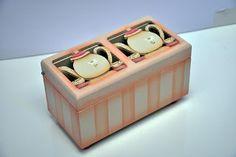 Eliane Artesanato: Caixa de chá pequena