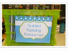 Guided Reading Resource Organization