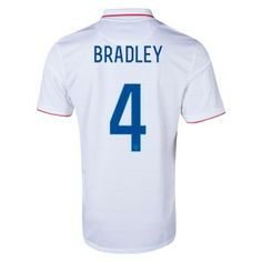 BRADLEY 2014 World Cup Home Soccer Jerseys USA Football