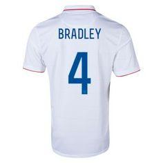BRADLEY 2014 World Cup Home Soccer Jerseys USA Football