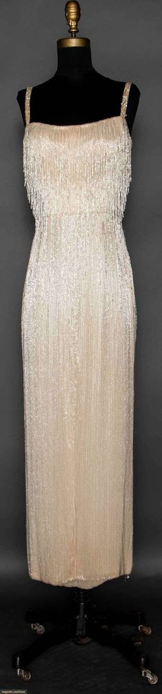 Hattie Carnegie Bead Encrusted Gown, Late 1950s