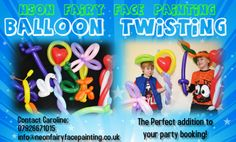 Balloon twisting the perfect addition to face painting!