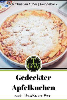 Einfacher gedeckter Apfelkuchen mit Mürbeiteig nach steirischer Art in Form einer Apfeltarte. Rezept von Christian Ofner. Auch passend als Blechkuchen. Leicht gemacht! #apfelkuchen #gedeckterapfelkuchen #steirisch #steiermark #herbst #äpfel #blechkuchen #apfeltarte #mürbeteig #mürbteig Form, Desserts, New Recipes, Food Food, Hello Autumn, Tailgate Desserts, Deserts, Postres, Dessert