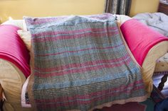 my KEX blanket in Rowan Felted Tweed